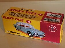 Dinky 135 Triumph 2000 Empty Repro Box Only
