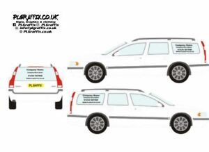 Estate Car or 4X4 Sign Writing decal kit vehicle advertisement business