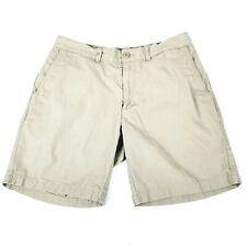 Patagonia Men's size 32 Flat Front Organic Cotton Shorts Khaki 7 inch Inseam