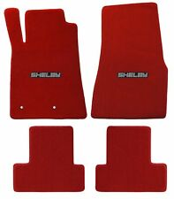 Mustang Carpet Floor Mats Red w/Shelby Word Logo 2005-2010 Coupe & Convertible