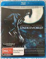 UNDERWORLD EXTENDED EDITION BLURAY DVD MOVIE NEW - REGIONS FREE, FREE POST