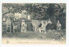 Folk Art Statue Garden—Clermont-Ferrand CPA Antique—Fontaine Petrifiante 1910s