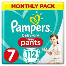 Pampers Baby-Dry Size 7 Nappy Pants - Pack of 112