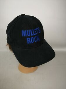 Mullets Rock Baseball Hat Black Ultra Fit Medium Embroidery 100% Cotton