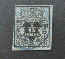 nystamps German States Hanover Stamp # 13 Used $78   A16x2904