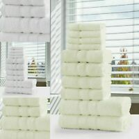 10 Piece Towel Bale Set Luxury 100% Egyptian Cotton Soft Terry Hand Face Towels