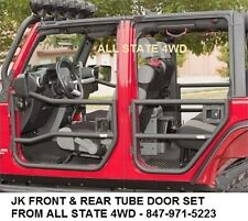 2007 to 2015 Jeep Wrangler JK Rugged Ridge Front & Rear Black Tube Half Doors
