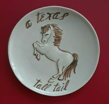 """A Texas Tall Tail Collectible Brown & Beige 7"""" Plate"""