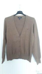 Der Klassiker von GANT: die Strickjacke aus 100 %  Baumwolle in Gr. XL, braun