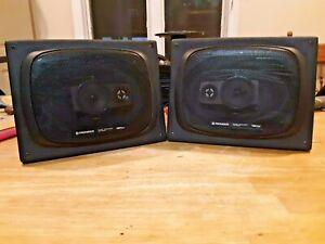vintage pioneer TS-6944 6 x 9 speakers in angled realistic speaker boxes
