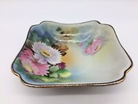 Vintage Chikaramachi Hand Painted Bowl Floral Gold Trim Made in Japan