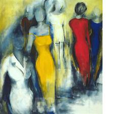 "32W""x36H"" BEGEGNUNG by MARIANNE KORBIEN-BRAUN - MEET ENCOUNTER CHOICES of CANVAS"