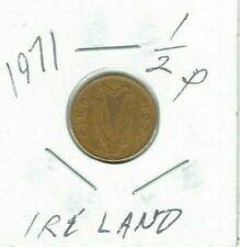 1971 Ireland 1/2p Half Penny Bronze Coin - Celtic Stylized Bird