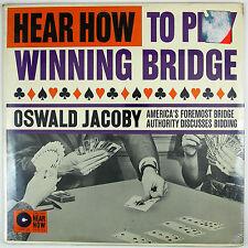 OSWALD JACOBY How To Play Winning Bridge LP 1960 INSTRUCTIONAL/BRIDGE (SEALED)