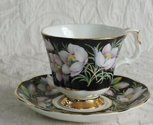 Tazza caffè Royal Albert Provincial Flowers Series Crocus 1975 Coffee Cup