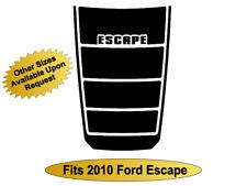 Blackout Decal Vinyl Hood Decal Matte Black Graphic Fits Ford Escape 2008-2010