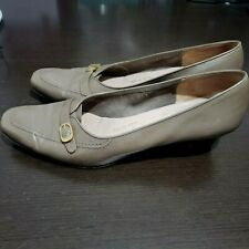 Salvatore Ferragamo Boutique Gray Leather Shoes Made in Italy Size 9,5