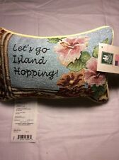 Tapestry Throw Pillow Word Afghan Lets Go Island Hopping Word Pillow Luau Hula