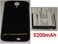 Cover Guscio Nera+ Batteria 5200mAh tipo B600BE B600BU per SAMSUNG Galaxy S4 LTE