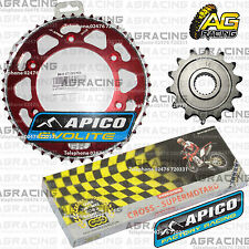 Regina 520 RH Chain Apico Sprocket Set 14T 47T Rear Red For Honda CRF 250R 2010