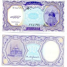 EGIPTO billete nuevo de 10 piastras Pick189a LA ESFINGE Y EL PIRÁMIDES