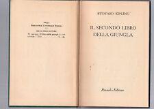 rudyard kipling - il secondo libro della giungla - - bur copertina rigida verde