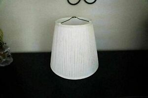 Vintage Diane Studios French Pleated Lamp Shade Cream/Ivory Color