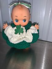 """Kewpie 6"""" with """"Angel Wings"""" Vintage Vinyl Collectible in a St. Patty's Outfit"""