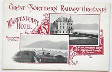 Great Northern Railway (Ireland) Official Postcard Warrenpoint Hotel