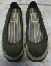 Green Toe Simple 9443 Womens Slip On Shoes Sz 8.5