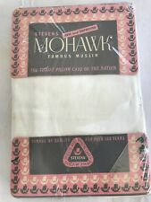 "VINTAGE "" MOHAWK "" MUSLIN PILLOWCASES STILL IN PACKAGING NOS NU STANDARD SIZE"