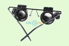 20X Binocular Eye Loupe Magnifier Glass Magnifying Glasses+LED Light ILLUMINATED