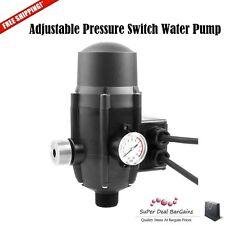 NEW Adjustable Pressure Switch Water Pump Controller Black Garden Farm Outdoor