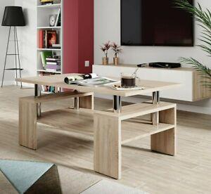 Couchtisch Modest Weiß Sonoma Wenge Sofatisch Modern Kaffeetisch Wohnzimmer M24