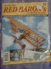 HACHETTE BUILD THE RED BARON'S FIGHTER PLANE FOKKER DR1 # 25 NEW SEALED