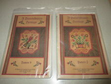 2 Pennsylvania Heritage Quilt Applique Patterns - Quilt Blocks #2 and #9 New