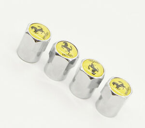 4x For Ferrari Car Tire Valve Stems Caps Wheel Air Valve Dust Cover Styling Logo