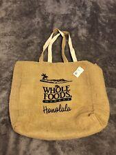 Whole Foods Honolulu Hawaii Cotton Canvas Organic Shopping Bag Tote Reusable