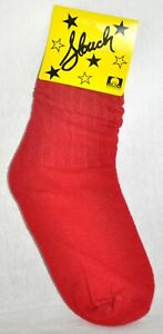 Slouch Socks Women's Scrunch Hooters Socks Red Size 6-8 NWT Made In USA!!