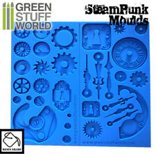 2x Steampunk Gear Texture SILICONE MOLD Matt for food and resins - Impression