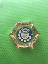 VINTAGE ROTARY PHONE DIAL GLASS ASHTRAY 1950s