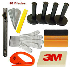 Standard 11 pcs 3M Gold Squeegee w/ Wool Felt Glove 4 Magnet Auto Wrapping Tools