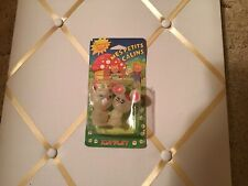 Kim-Play France New old stock Glo-Bug-Glow-Worm-Friend Figure Fakie Bear,Bunny
