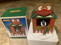 Lemax Pretzel Stand -Holiday Village Train accent-retired