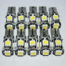 10PCS T10 White Led Free Canbus Error 5 SMD Car Wedge light Bulb 168 194 W5W Hot
