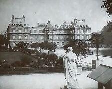 Luxembourg Palace, Paris, France, Vintage Magic Lantern Glass Slide