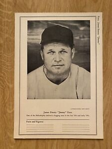 1946 International News Photo Jimmy Jimmie Foxx Philadelphia A's