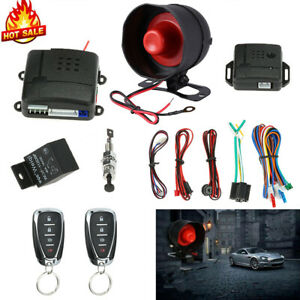Universal Keyless Entry System Car Alarm Remote Control Pager Security Kit 12V