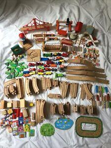 Huge Wooden Train Track Bundle Brio Thomas Compatible Bridge Xmas Christmas Toys