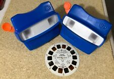 View-Master Blue 3D Reel Viewer Lot Of 2